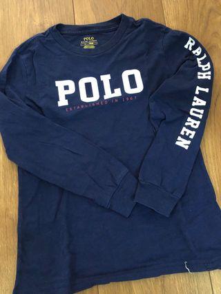Camiseta niño Polo Ralph Lauren. Talla 6. Marino