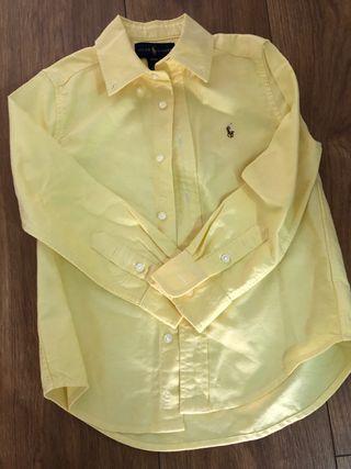 Camisa niño Polo Ralph Lauren. Talla 4. Amarillo