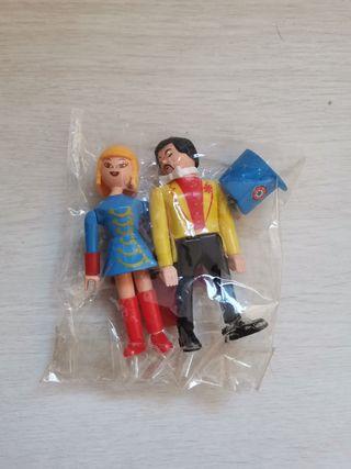 Lote 2 figuras Airgamboys circo