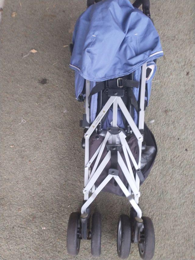 Blue Child Baby Pram Buggy Pushchair Stroller