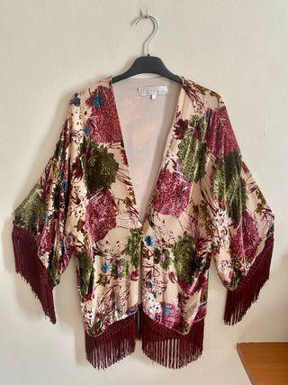 Kimono Floral Zara Mujer