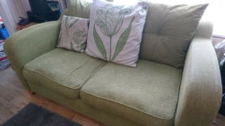 Green 2 Seater Sofa