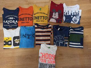 Lote de camisetas manga larga 3-4 años.