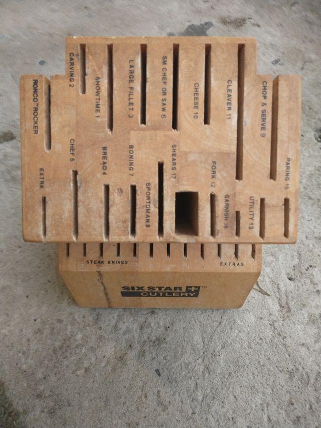Wooden Knife Holder Block 29 Knifes
