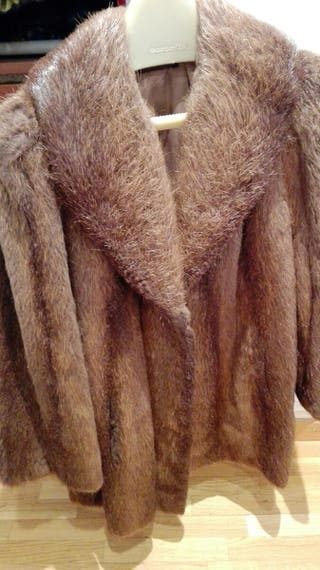 Abrigo chaqueton piel de nutria