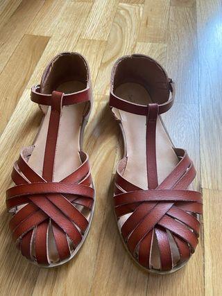 Sandalias piel Zara 36