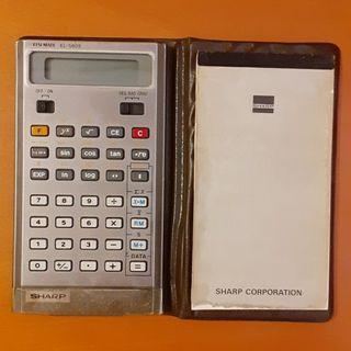 calculadora antigua sharp