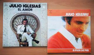 JULIO IGLESIAS 2 LP - A FLOR DE PIEL - EL AMOR
