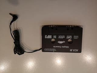 Adaptador cassette audio.