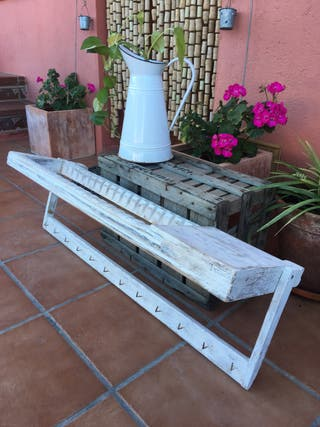 Antiguo platero de madera GRANDE