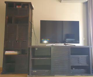 Mueble salón TV y estantería a juego