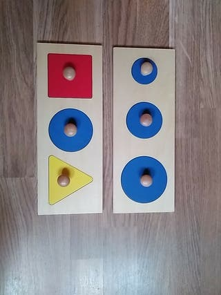 puzzles primeras formas geométricas con pomo