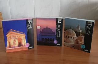 guías de viajes de Marruecos, Túnez y París