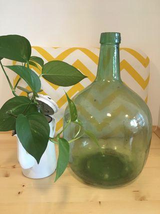 Antigua damajuana de 8l VIRESA cristal soplado