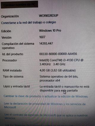 Ordenador Sobremesa Lenovo