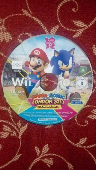 Mario y Sonic juegos olímpicos de Londres 2012 Wii