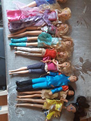 conjunto muñecas Barbie