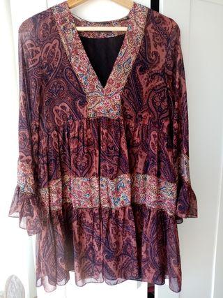 Zara vestido hippie gypsy estilo
