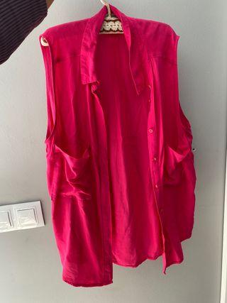 Camisa sin mangas rosa
