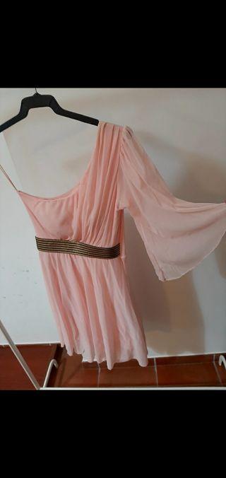 Vestido mujer rosa clarito