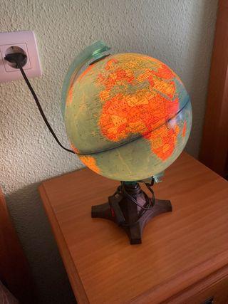 Lámpara bola del mundo