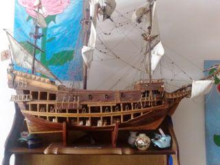 replica Barco de madera