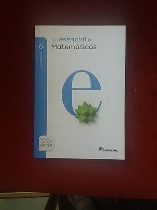 Libro lo esencial de Matemáticas 6. Santillana