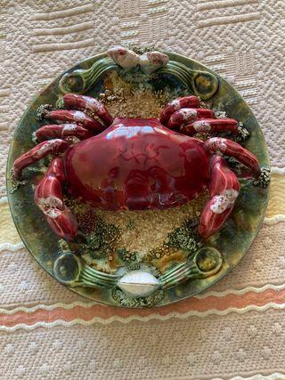 Plato cangrejo/ buey de mar decorativo
