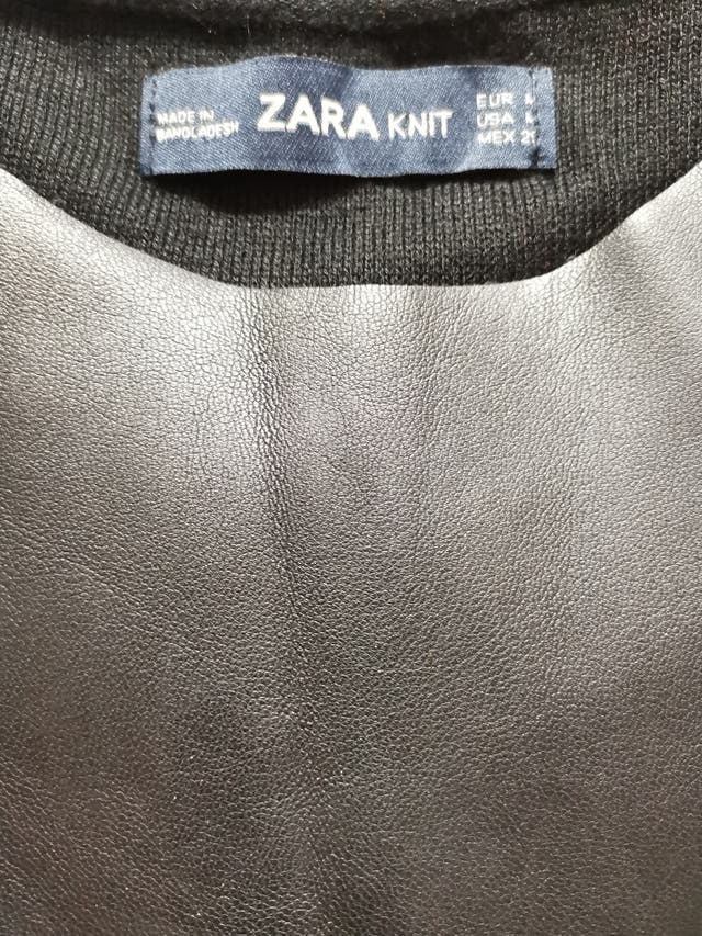 original faux leather Top from Zara