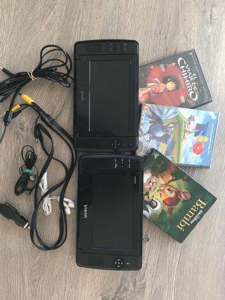 DVD player para coche - Doble pantalla