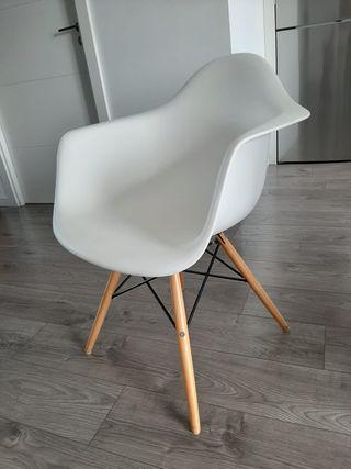 Silla Damero Classic Blanca