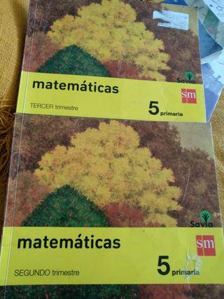 Libros de Matemáticas 5 primaria