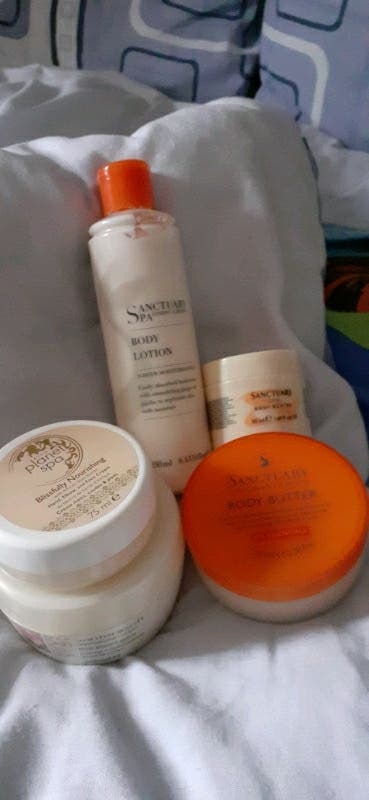 x 8 body creams and butters