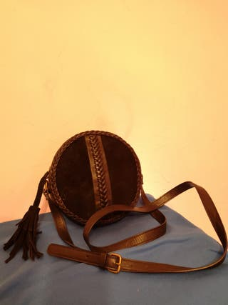 Bolso negro piel ecoté