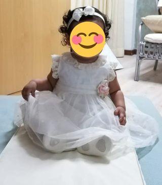 vestido niña para bautizo