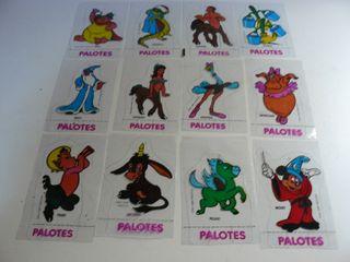 """36 CROMOS TROQUELADOS DE """"PALOTES"""" WALT DISNEY"""