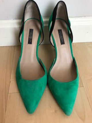 Zapato ante verde Zara