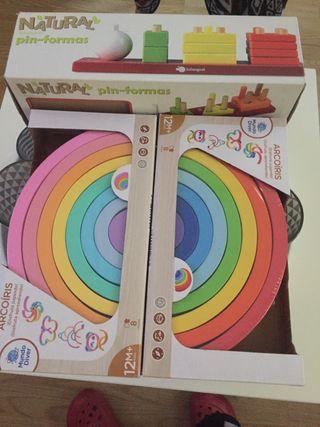 3 juguetes de madera montessori