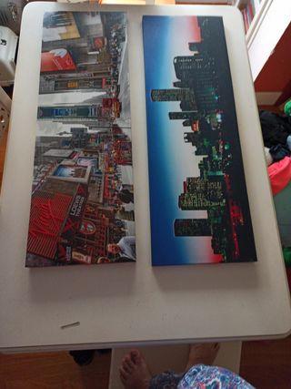 fotos en tela sobre bastidor de madera