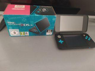 New Nintendo 2ds Xl Azul Completa
