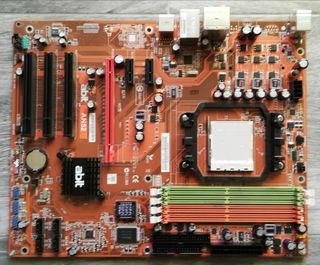 Lote de placa base y componentes informática