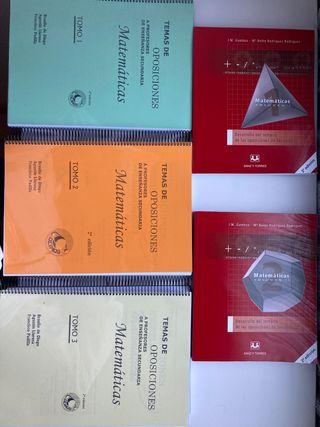 Libros oposición matemáticas secundaria