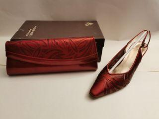 conjunto de zapatos y bolso Asensio