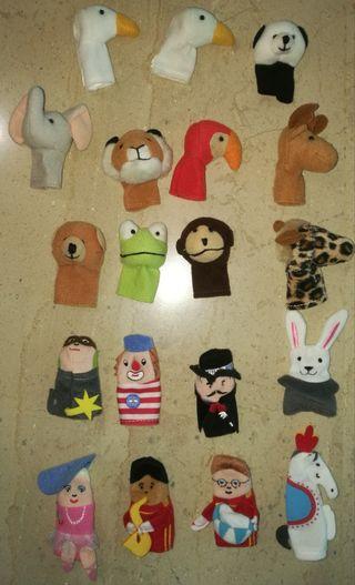 19 Títeres dedo/ Marionetas dedo animales y circo