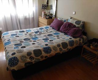 Cama completa con canapé, colchón y nórdico