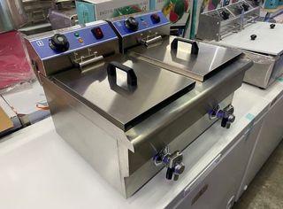 Freidora industrial eléctrica de 10+ 10 litros