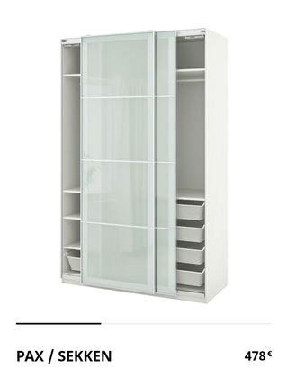 armario puertas correderas pax / sekken 1,50
