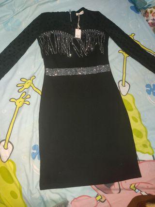 vestido De Fiesta cómodo color negro