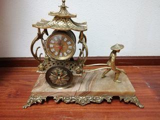 Reloj bronce y mármol