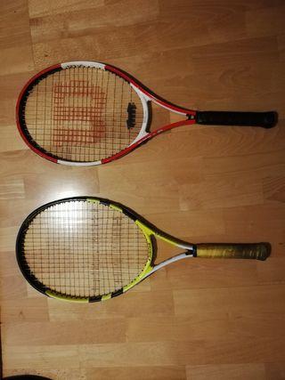 raquetas tenis Babolat Nadal y Wilson Federer